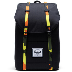 Herschel Retreat Mochila 19,5l, black/neon camo